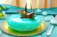 Фото Муссовый торт с зеркальной глазурью