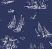 York Wallcoverings sailboat toile