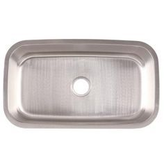 FrankeUSA Undermount Stainless Steel 31.5x18.43x9.5 0-Hole Single Bowl Kitchen Sink-FSU118 - The Home Depot
