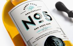 Robot Food's Fifth Anniversary: Oak Aged Rum, Limited Edition