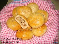 Chicken-Filled Buns Recipe (Fauzia's Kitchen Fun)