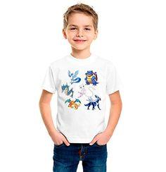 CAMISETA DE NIÑO DIBUJO GRUPO POKEMON TALLA INFANTIL #camiseta #starwars #marvel #gift