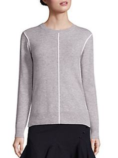 Derek Lam 10 Crosby - Piped Cashmere Sweater