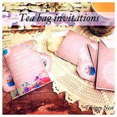tea bag invites