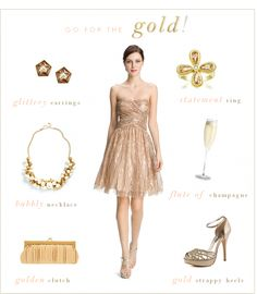 gold dress   Gold Dress   Golden Sequins for Champagne Wedding Look   Dress For The ...