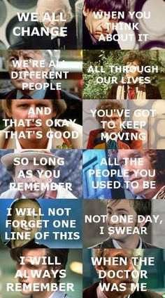 """I'll always remember when the Doctor was me"""
