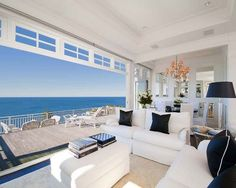 Living room in seaside cottage at Palm Beach north of Sydney