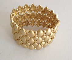 Matte Gold Cuff  Bracelet by WOWTHATSBEAUTIFUL on Etsy