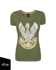 Koszulka patriotyczna damska Orzeł Armii Krajowej  | DLA KOBIET | Sklep z koszulkami Polski i odzieżą patriotyczną ● Przepnij Pina! Pomóż nam promować ideę nowoczesnego patriotyzmu. Surge Polonia