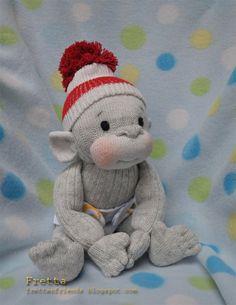 Fretta's Sock Monkey. Hand stitched 12 / by FrettasLovableDolls