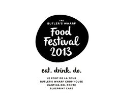 Butler's Wharf Food Festival Logo designed by Oliver Edge Design