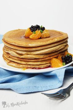 Americké palacinky Sweet Recipes, Pancakes, Food And Drink, Cooking, Breakfast, Kitchen, Basket, Salads, Morning Coffee