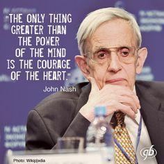 John Nash --abeautiful mind, indeed.