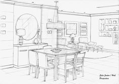 Sala Jantar Perspectiva - Projeto Ana Lucia Nunes The Effective Pictures We Offer You About home des Drawing Interior, Interior Design Sketches, Top Interior Designers, Interior Design Tips, Bathroom Interior Design, Interior Design And Technology, Interior House Colors, House Drawing, Do It Yourself Home
