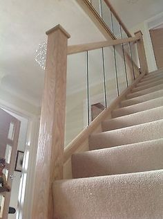 Reflections Glass and Oak Balustrade - Refurbishment Kit Staircase and Landing Balustrades, Glass Balustrade, Stairs Upgrade, Newel Posts, Back To Home, House Stairs, Stoke On Trent, Hallway Decorating, Staircase Design