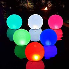 Floating Pool Lights 6 Packs, Ip67 Waterproof Color-Changing Lights, 3-Inch Luminous Ball with Remote Control, Can Be Used for Pool Party, Party Decoration Waterproof and environmentally friendly luminous ball: Our luminous ball shell is made of vinyl material, IP67 waterproof, you can use it outdoors with confidence. If you need to place it completely in the water, make sure that the lid of the pool light is fully tightened! The light of the luminous ball does not contain ultraviolet… Floating Pool Lights, Pond Lights, Ball Lights, Globe Lights, Above Ground Pool Lights, Best Above Ground Pool, In Ground Pools, Solar Pond, Best Solar Lights