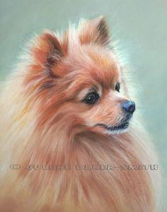 Pomeranian Fine Art Print by ArtByJulene on Etsy