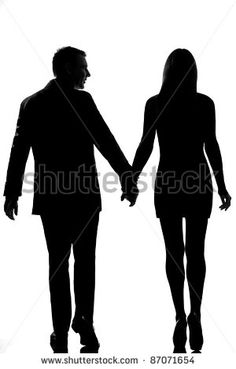 rear view one lovers caucasian couple man and woman walking hand in hand in studio silhouette isolated on white background Man And Woman Silhouette, Couple Silhouette, Flower Drawing Tutorials, Couples Walking, Black Couples, Romantic Couples, Rear View, Men And Women, Feelings