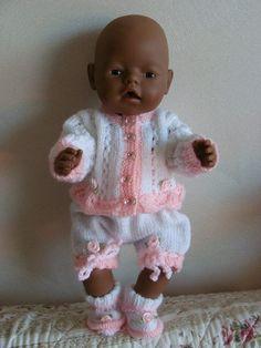 Ensemble Vêtements tricotés main poupées poupons 42 44 cm   Jeux, jouets par ec6327b3006
