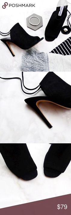 """Steve Madden Suede Mules Details: * Size 8 * Suede * Open toe * Ankle ties * 4.75"""" heel 09091601 Steve Madden Shoes Mules & Clogs"""