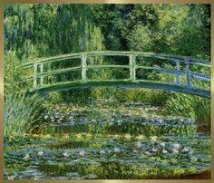 """""""O Lago das Ninféias"""" (1899), Claude Monet. Óleo sobre tela, 88,3 X 93,1 cm. National Gallery, Londres, Grâ-Bretanha.  Monet foi um francês impressionista."""