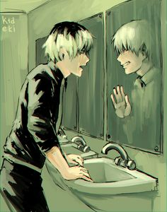 kaneki now becomes the primary troll cos he's getting payback for the shit that happened in his life.