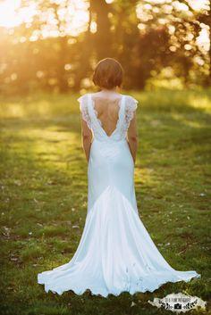 Utterly beautiful shot of a dramatic back !  Wedding dress - Sarah Janks Belinda