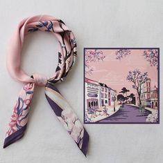 Small Scarf, Polka Dot Scarf, Vintage Fashion, Vintage Style, Scarf Design, Square Scarf, Scarf Styles, Womens Scarves, Bridesmaid Gifts