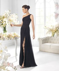 One Shoulder Lace Black Prom Gown Evening Dress Christmas Party Dress Size New Black Evening Dresses, Evening Gowns, Evening Outfits, Cheap Wedding Dress, Wedding Dresses, Prom Gowns, Party Dresses, Prom Dress 2013, Dresses 2013