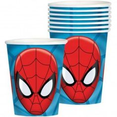 Pack of 8 Ultimate Spiderman paper cups. They are great on the party table teamed with our other Ultimate Spiderman party tableware.