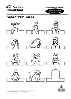 animal finger puppet templates - Google Search