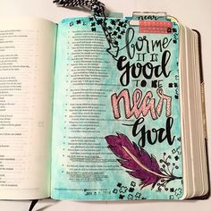 Bible Journaling by Stephanie Middaugh Bible Psalms, Bible Verse Art, Bible Prayers, Faith Bible, Scripture Doodle, Scripture Study, New Bible, Bible Love, Bible Study Journal