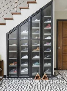7 Amazing Shoe Storage Ideas From Real Homes is part of Storage furniture bedroom - Whether you're into sneaks or stilettos, there's a storage solution for every shoe collection Shoe Storage Furniture, Closet Shoe Storage, Diy Shoe Rack, Home Decor Furniture, Wardrobe Storage, Wall Shoe Rack, Shoe Racks For Closets, Understairs Shoe Storage, Storage For Shoes