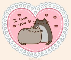 Cat Valentine, Happy Valentines Day, Valentines Gif, Crazy Cat Lady, Crazy Cats, Pusheen Love, Pusheen Gif, Pusheen Stuff, Love You Gif
