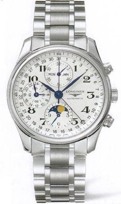 Longines Master Collection Silver Dial Chronograph Stainless Steel Mens Watch L26734786 >>> You can find out more details at the link of the image.