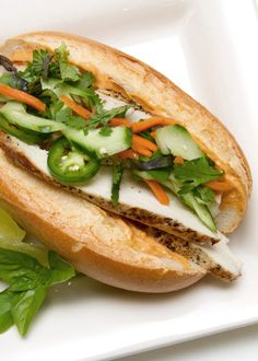 Chicken Bahn Mi Sandwich  Vietnamese Chicken Sandwich