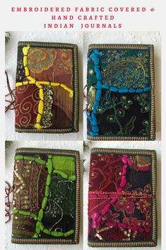 Which one is your favourite among these embroidered cover fabric journals from @indianjournals