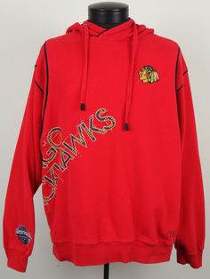 Chicago Blackhawks NHL Rink Side Collection Red Pullover Hoodie Mens Large L #RinkSideCollection #ChicagoBlackhawks