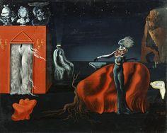 サルバドール・ダリ 《奇妙なものたち》 1935年頃、40.5×50.0 cm、板に油彩、コラージュ、ガラ=サルバドール・ダリ財団蔵Collection of…