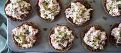 Seafood spread appetizer to serve on a toasted baguette. This creamy shrimp and crab spread will become everyone's favorite party appetizer! This recipe pairs perfectly with a crisp glass of white wine. Seafood Appetizers, Appetizers For Party, Appetizer Recipes, Seafood Salad, Seafood Dishes, Imitation Crab Salad, Rita Recipe, Twice Baked Potatoes, Swedish Recipes
