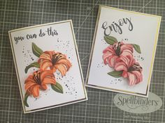 Cards Diy, Handmade Cards, Aliexpress Dies, The Ton Stamps, Serene Silhouettes, Altenew Cards, Flower Cards, Lilies, Cardmaking