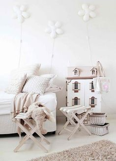 Beige and white child's room