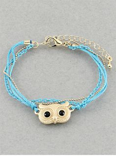 Sweet Owl Bracelet from P.S. I Love You More Boutique. shop online at: psiloveyoumore.storenvy.com