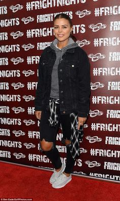 The reality star joined a hosts of famous faces including beauty queen Amy Willerton at the Fright Night at Thorpe Park event in Chertsey on Thursday night. Lazy Fashion, Winter Fashion Casual, Winter Style, Lillie Lexie Gregg, Day Out Outfit, Chloe Lewis, Thorpe Park, Fright Night, Famous Faces
