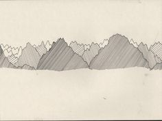 My kind of mountains. Hand drawn. ink on paper. 20,5 x 27,5cm. All rights Fie Paarup.
