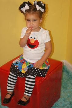 Elmo Birthday girl outfit