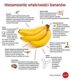 właściwości bananów Healthy Tips, Healthy Recipes, Healthy Food, Yummy Food, Cholesterol Foods, Food Science, Wellness, Slow Food, Nutrition Tips