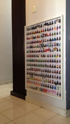 Could also work great for Essential Oils storage. Modification of IKEA RIBBA frame for Lego minifigures Lego Display, Lego Minifigure Display, Lego Table, Lego For Kids, Lego Room, Lego Storage, Ideas Hogar, Lego Projects, Toy Rooms