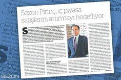 Yönetim Kurulu Başkanımız Mehmet Erdoğan Dünya Gazetesi'ne yaptığı açıklamada oluşturulan bayi ağı ile Sezon ürünlerinin tüm Türkiye'ye ulaştırılmasını hedeflediklerini belirterek 2014 yılı stratejilerini paylaştı.