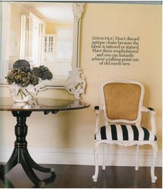Cane Back Chair Makeover Inspiration